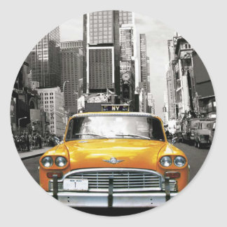 I Love NYC - New York Taxi Classic Round Sticker