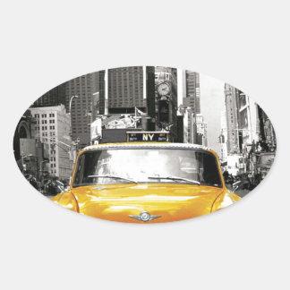 I Love NYC - New York Taxi Oval Sticker