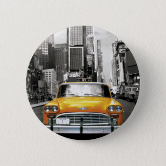 I Love NYC - New York Taxi Pinback Button