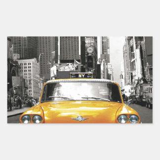 I Love NYC - New York Taxi Rectangular Sticker