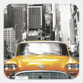 I Love NYC - New York Taxi Square Sticker