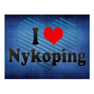I Love Nykoping, Sweden Postcard