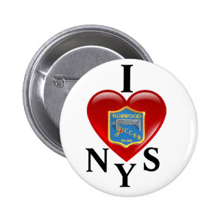 I Love NYS Button