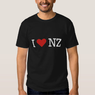 I love NZ (for dark t) T Shirt