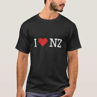 I love NZ (for dark t) T-Shirt