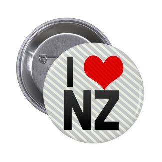 I Love NZ Pinback Button