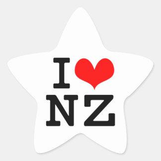 I Love NZ Star Sticker