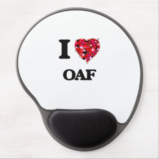 I Love Oaf Gel Mouse Pad