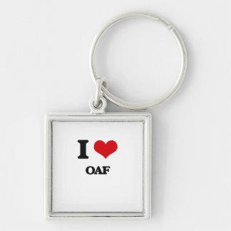 I Love Oaf Keychain