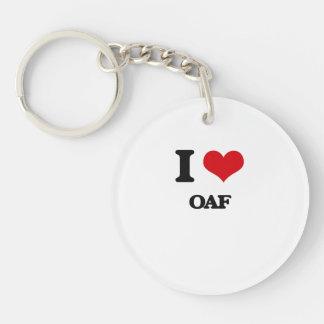 I Love Oaf Acrylic Keychains