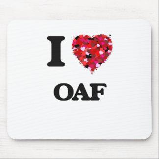 I Love Oaf Mouse Pad