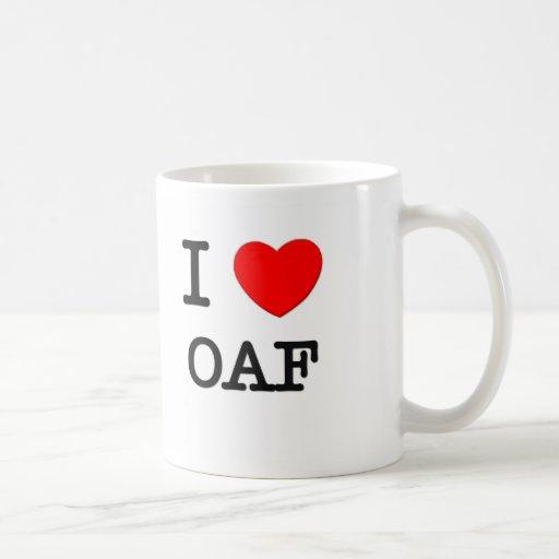 I Love Oaf Coffee Mugs