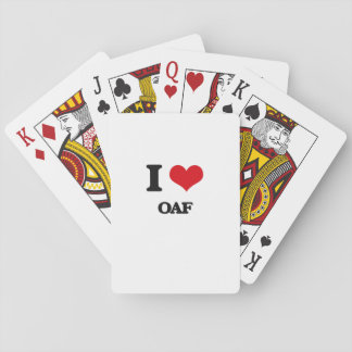 I Love Oaf Playing Cards