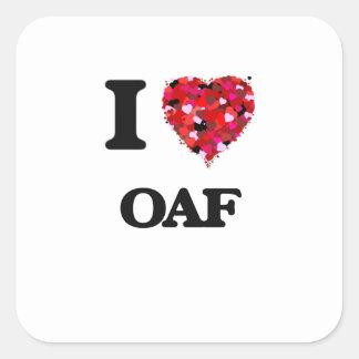 I Love Oaf Square Sticker