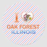 I Love Oak Forest, IL Classic Round Sticker