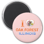 I Love Oak Forest, IL Magnets