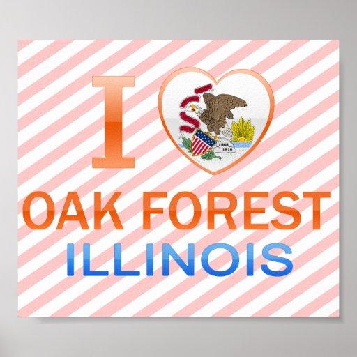 I Love Oak Forest, IL Print