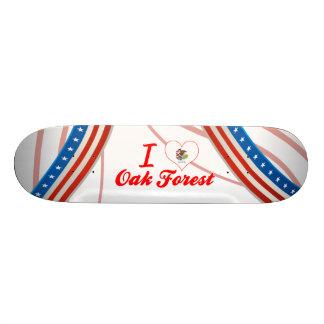 I Love Oak Forest, Illinois Skate Board