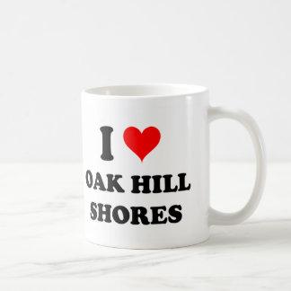 I Love Oak Hill Shores Massachusetts Coffee Mugs