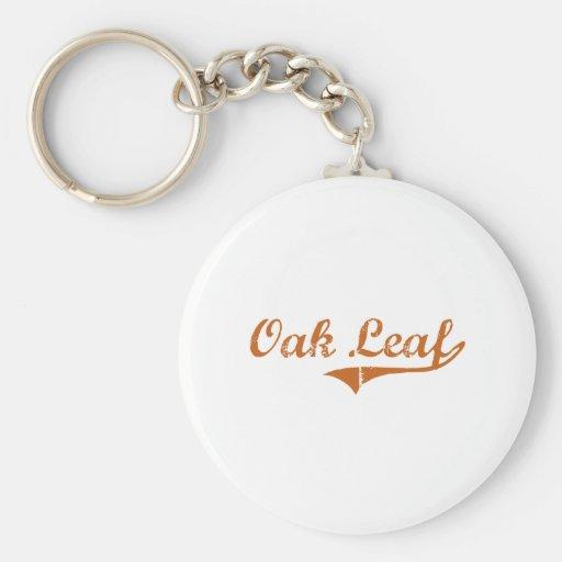 I Love Oak Leaf Texas Key Chain