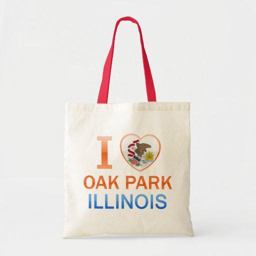 I Love Oak Park, IL Budget Tote Bag