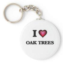 I Love Oak Trees Keychain