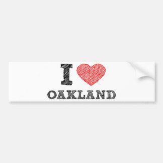 I Love Oakland Bumper Sticker