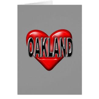 I Love Oakland Greeting Card