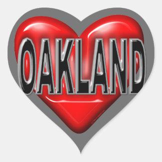 I Love Oakland Heart Sticker