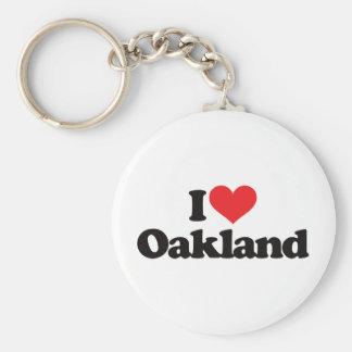 I Love Oakland Keychain