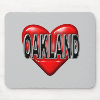 I Love Oakland Mouse Pad
