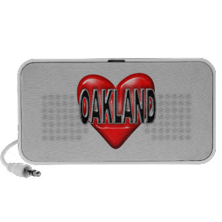 I Love Oakland Laptop Speaker