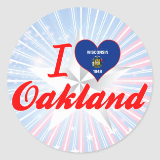 I Love Oakland, Wisconsin Classic Round Sticker