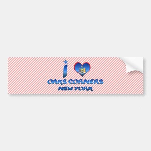 I love Oaks Corners, New York Car Bumper Sticker