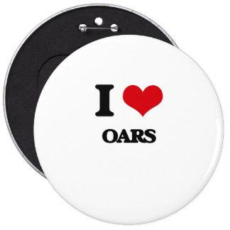 I Love Oars Buttons