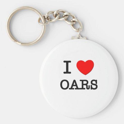 I Love Oars Keychain