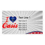 I Love Oasis, Wisconsin Business Card Template