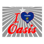 I Love Oasis, Wisconsin Post Card