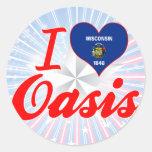 I Love Oasis, Wisconsin Round Sticker