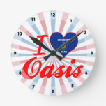 I Love Oasis, Wisconsin Round Wallclock