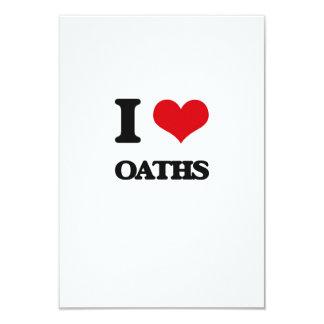 I Love Oaths 3.5x5 Paper Invitation Card