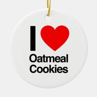 i love oatmeal cookies ceramic ornament