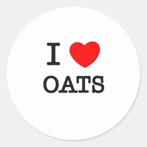 I Love Oats Stickers