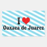 I Love Oaxaca de Juarez, Mexico Rectangular Sticker