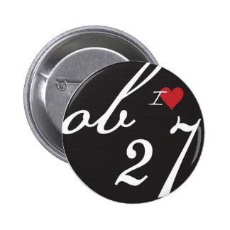 I Love ob27 Pinback Button