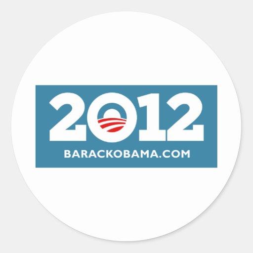 I Love Obama 2012 Round Stickers