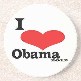 I Love Obama 2012 Sandstone Coaster