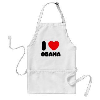 i love obama adult apron