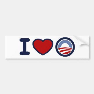 I Love Obama Bumper Sticker Car Bumper Sticker