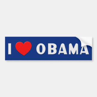 I Love Obama Bumpersticker Car Bumper Sticker